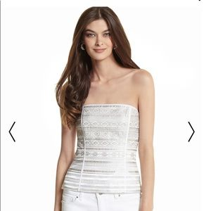 WHBM NWT Embroidered Striped Bustier Size 6